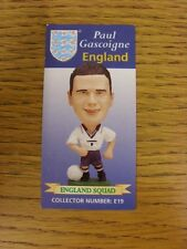 1996 Corinthian England Squad Card: Gascoigne, Paul (E19).  When listing we try