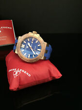 Swiss Legend Men's Blue and Rose Gold Challenger Watch