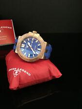 Swiss Legend Men's Blue and Rose Gold Challenger Watch