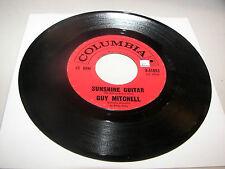 Guy Mitchell Sunshine Guitar / Ridin' Around in the Rain 45 VG+ Columbia 4-41853
