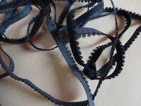 1,30€/m-Gummiband,Gummilitze ,Wäschegummi, Masken  tauben blau 3mx7mm