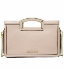 NWT Michael Kors Berkley Legacy Leather Clutch Soft Pink /Gold ~MSRP$198