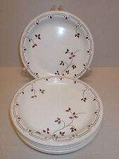 6 x Churchill 17cm Diameter Side Plates with Small Leaf Design - Lovely