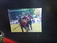 MARK WILLIAMS RARE PERSONALLY HAND SIGNED  ESSENDON PHOTO  8X6  INCH FOOTBALL