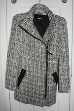 Bebe Winter Dress Coat/Peacoat *Size XS* *White & Black Marled*