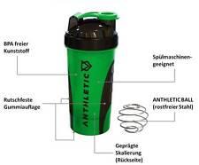 ANTHLETIC Gym Shaker, Protein Shaker, 700 ml, Drehverschluss & Shakerball (grün)