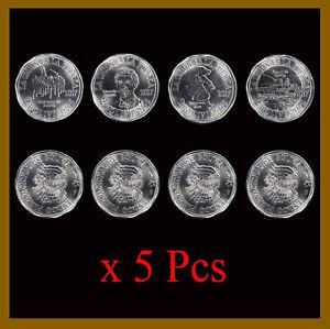 Bolivia 2 Bolivianos (4 Pcs Coin Set) x 5 Lots, 2017 Commemorative Unc