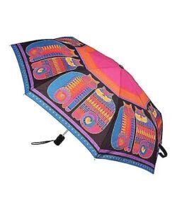 LAUREL BURCH Compact Umbrella RAINBOW CATS & COUSINS Auto Open & Close NEW Free