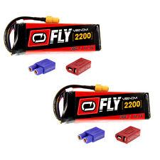 Venom Fly 30C 3S 2200mAh 11.1V LiPo Battery with UNI 2.0 Plug x2 Packs