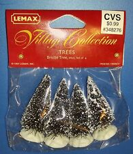 Lemax Village Accessories Trees Bristle Tree Mini Set of 4 1991 14005