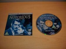 Alfred Hitchcock NOTORIOUS Starring Cary Grant & Ingrid Bergman DVD