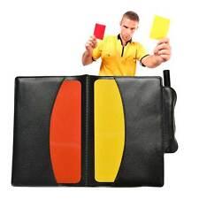 Kit arbitro calcio cartellini cartellino rosso+giallo matita fogli ammonizioni