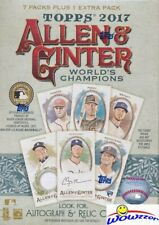 2017 Topps Allen & Ginter Baseball Factory Sealed Blaster Box!