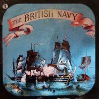 SET OF 12 FULL COLOUR MAGIC LANTERN SLIDES - BRITISH ROYAL NAVY BATTLES