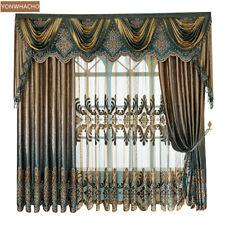 Luxury Thick velvet Flannel coffee cloth blackout curtain valance drape B663*