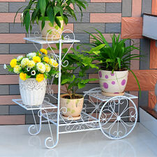 4 Tiers Garden Metal Planter Stand Stand Iron Bicycle Flower Pot Cart Plant [1P]