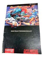 Street Fighter II 2 SNES Super Nintendo MANUAL ONLY! Instruction Booklet!