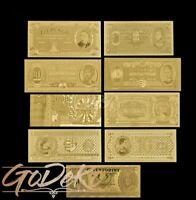 Forint Gold Banknote Set Ungarn Hungary Geldschein Schein Note Goldfolie Pengo