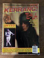 KERRANG Magazine #358 Sept 1991 UK Tesla KISS Band 1970's Article Guns N Roses