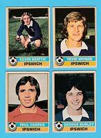 FOOTBALL - TOPPS  GUM  -  4  DIFFERENT  FOOTBALLERS  -  IPSWICH  -  1977