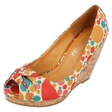 Sandali e scarpe multicolori casual per il mare da donna tacco alto ( 8-11 cm )