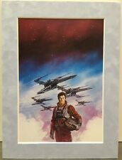 Dave Dorman STAR WARS ~ ROUGE SQUADRON Pro Suede Matted Art Print X-WING
