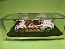 SPARK  1:43 - SPYKER C8 SPYDER DUTCH POLICE 2008   - MINT CONDITION IN BOX