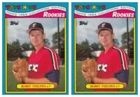 (2) 1988 Topps Toys R' Us Rookies Baseball 32 Bobby Thigpen Lot White Sox
