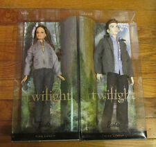 Twilight Edward & Bella Dolls Barbie Collector Series Boxes Pink Label