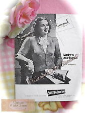 Vintage 1940s Knitting Pattern Pretty & Simply Detailed Lady's Cardigan NO P&P!