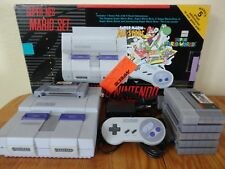 Super Nintendo NES Mario Set Console System in Box & 5 Games SNES Bundle SNS-001