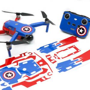 Captain America Drone Skin Wrap Stickers Decal for DJI Mavic Air 2