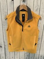 VTG 90s NIKE ACG Women's Fleece Full Zip Vest Yellow Size Small 4-6
