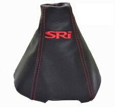 """Gear Stick Gaiter For Vauxhall Zafira B 2005-2014 Leather """"SRi"""" Red Embroidery"""