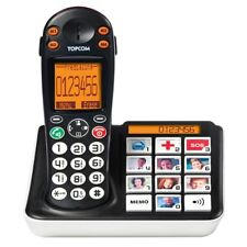 Telefono Cordless Tasti Grandi Colorati Vibrazione Display LCD LED Allarme B935