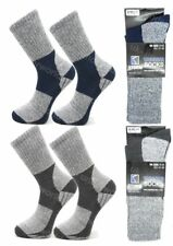 2 Pairs Mens Cushioned Walking Socks Trekking Hiking Ski Work Boot Adults 7-11