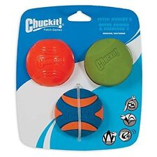 Chuckit Pet Dog Chew Throw Toy Ball Fetch Medley 2 Rubber Balls X 3 Size Medium
