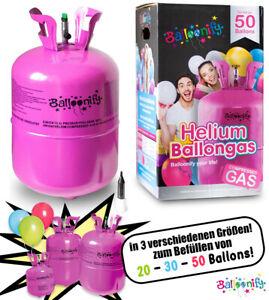 Ballongas Helium für bis zu ca. 50 Ballons Heliumflasche Party Geburtstag
