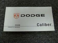 2008 Dodge Caliber Hatchback Owner Manual SE SXT R/T SRT4 CVT 1.8L 2.0L 2.4L