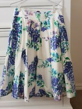 Review Skyler white floral pleated prom skirt - size 10