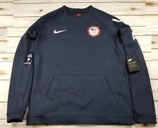NIKE Tech Fleece Team USA Olympics Crewneck Sweatshirt 909526 473 - Men M New