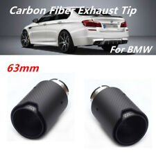 2PCS  Exhaust Tip Matt Real Carbon Fiber+M Logo for BMW F22 F23 F30 F31 M3 M4 M5