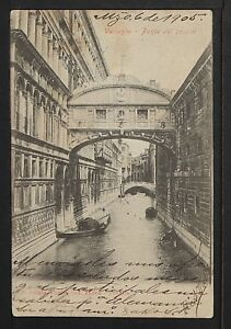 ITALY 866-VENEZIA -Ponte del sospiri (1905)