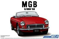 Aoshima 56851 The Model Car 101 BLMC G/HM4 MG-B MK-2 1968 1/24 scale kit Japan