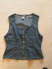 Ladies Vintage Denim Waistcoat from FALMER Jeanswear Size Medium (10-12)