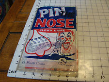 vintage PIN THE NOSE ON THE CLOWN, partially used, MADE IN USA, old, cool