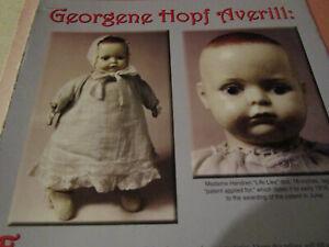 20pg Georgene Hopf Averill Doll History Article THE REAL STORY / Jensen