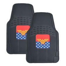 Rubber Car Floor Mats DC Comics Wonder Woman All Weather Protection Truck SUV