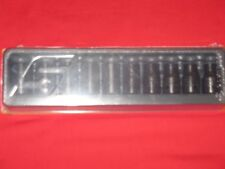 """SNAP-ON 1/2"""" DRIVE SINGLE HEX FLANK DRIVE SHALLOW IMPACT SOCKETS IN STORAGE TRAY"""