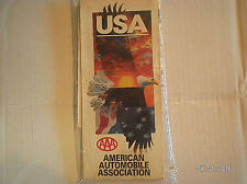 "VINTAGE U. S. A..""AUTOMOBILE CLUB"" ROAD MAP 1993"